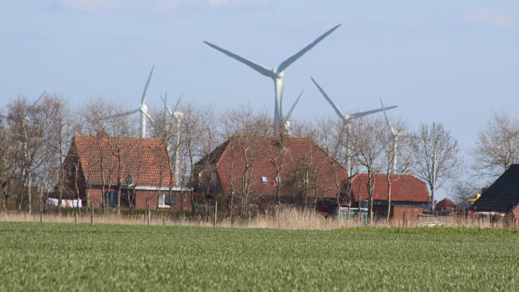 Windpark, Häuser