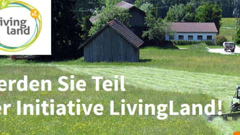 Das Logo der Initiative Living Land.